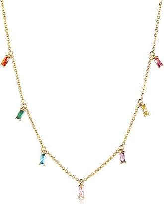 Sif Jakobs Jewellery Necklace Princess Baguette with multicoloured zirconia