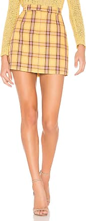 BB Dakota Best I Ever Plaid Skirt in Yellow