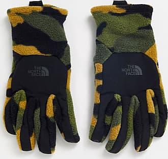 The North Face Denali Etip gloves in khaki camo-Green