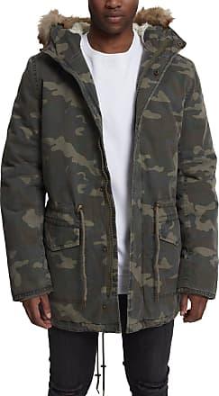 Urban Classics Mens Garment Washed Parka, Multicoloured (Wood camo 396), M
