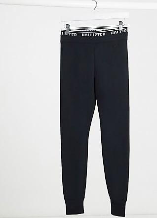 Hollister logo waist band legging in black