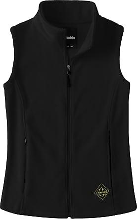 Wantdo Womens Gilet Fleece Vest Full-Zip Outerwear Garment Black X-Large