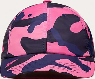 Valentino Garavani Valentino Garavani Uomo Nylon Camouflage Baseball Cap Man Navy Camo/pink Polyamide 100% 59
