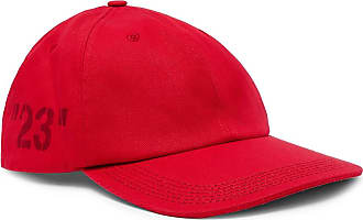 Off-white Printed Cotton-twill Baseball Cap - Red