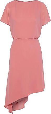 IRIS & INK Iris & Ink Woman Cecilia Asymmetric Crepe De Chine Dress Pink Size 12