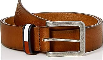 98a2d9fa5924 Tommy Hilfiger TJM Flag Inlay Belt 3.5, Ceinture Homme, Marron (Dark Tan 262