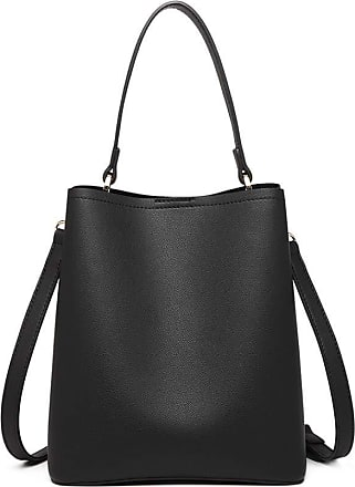 Quirk MISS LULU SOFT LEATHER LOOK HANDBAG BLACK