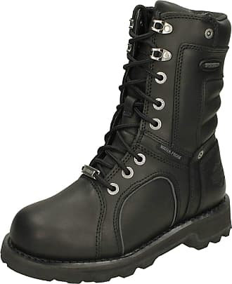 Harley-Davidson Ladies Mid Calf Biker Boots Zadora D86010 - Black Leather - UK Size 4 - EU Size 37 - US Size 6