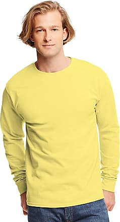 Hanes 6.1 oz. Tagless ComfortSoft Long-Sleeve T-Shirt, Medium, YELLOW (US)