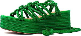 Damannu Shoes Sandália Brooke - Cor: Verde - Tamanho: 34
