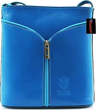 Your Dezire Womens Designer Real Leather Cross Body Bag Ladies Shoulder Handbag New (Light Blue)