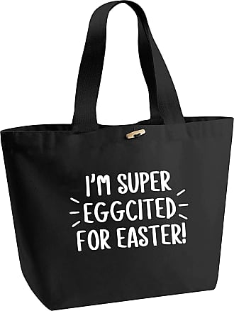 Flox Creative Organic Cotton Heavyweight Tote Bag Have an Eggcellent Easter