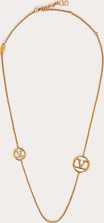 Valentino Garavani Valentino Garavani Vlogo Signature Metal Necklace Women Gold Brass 100% OneSize