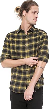 Ellus Camisa Ellus 2ND Floor Reta Xadrez Austin Preta/Amarela