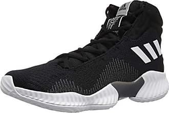 reputable site 27b10 a4e01 adidas Mens Pro Bounce 2018 Basketball Shoe Black White Grey 10.5 M US