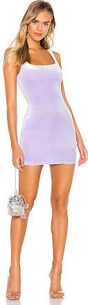 Superdown Jenny Square Neck Dress in Purple