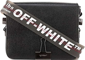 Off-white Binder Clip leather shoulder bag