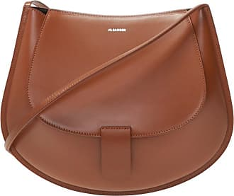 Jil Sander Shoulder Bag With Logo Womens Brown