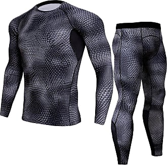 YiJee Mens Quick Dry Fitness Set Base Layer Tops T-Shirts and Tight Running Pants S