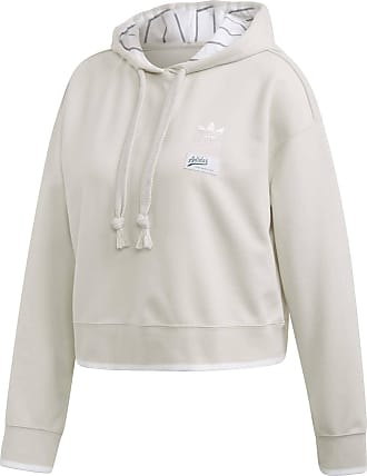 Adidas Cropped Hoodie für Damen in weiß