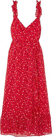 6ed442915b Madewell Wrap-effect Ruffled Floral-print Chiffon Dress - Red
