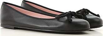 Pretty Ballerinas Ballet Flats Ballerina Shoes for Women On Sale, Black, Leather, 2017, 6 7 9
