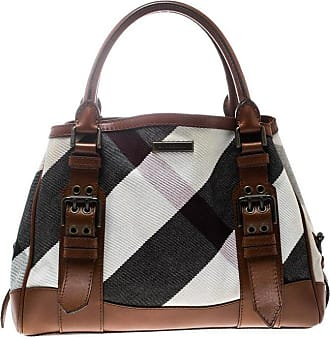 0607dcd3f760 Burberry Multicolor brown Canvas And Leather Mega Check Tote