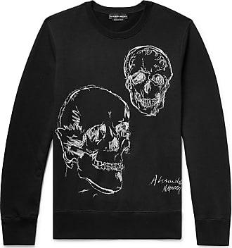 Alexander McQueen Embroidered Loopback Cotton-jersey Sweatshirt - Black