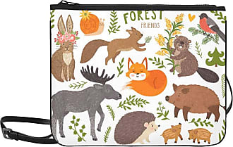 Yushg Fashion Weekend Bag Set Cute Forest Animals Fox Adjustable Shoulder Strap Handbag For Girls For Women Girls Ladies Male Fashion Bag Crossbody Bags Kid