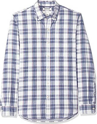 Goodthreads Mens Slim-Fit Long-Sleeve Doubleface Shirt, Denim Plaid, XX-Large Tall