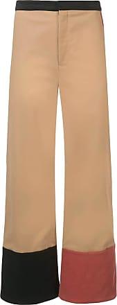 Rosie Assoulin Calça com contraste - Marrom