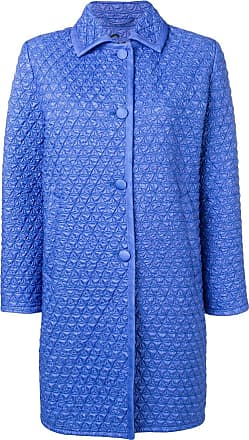 Ermanno Scervino quilted single-breasted coat - Blue