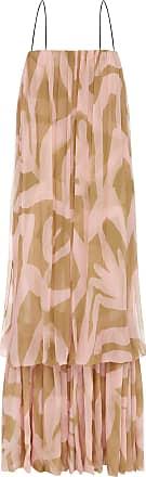 Lee Mathews Angie Printed Crinkled Silk Dress