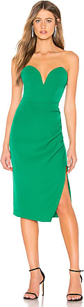 Superdown Christian Strapless Midi Dress in Green