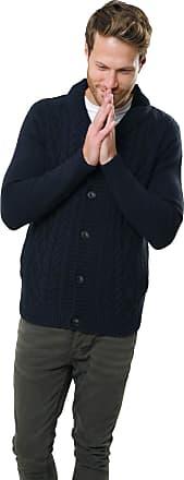 Mens Cardigan Knitwear Shawl Neck Sweater Cardi Jacquard Knit Threadbare IMT 065