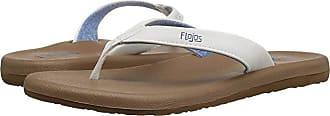 Flojos Jersey (White) Womens Toe Open Shoes