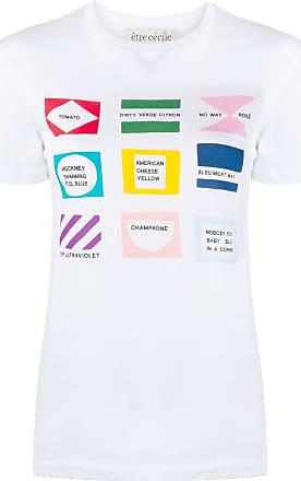 être cécile short sleeve flags print T-shirt - White