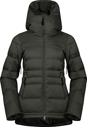 Bergans Oslo Down Hybrid Long Jacket Women SolidCharcoal