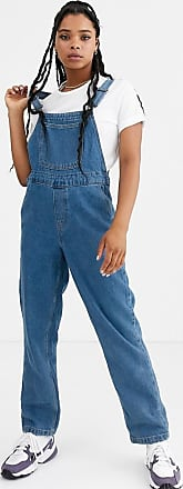 Noisy May denim mom dungarees-Blue
