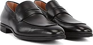 BOSS Penny loafers in burnished leather