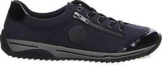 Schnürschuh Schuhe Rieker L5224 14 blau NEU (blau) kombi