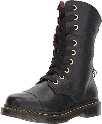da387ffaab5b3 Dr. Martens Womens Aimilita Black Aunt Sally Leather Fashion Boot