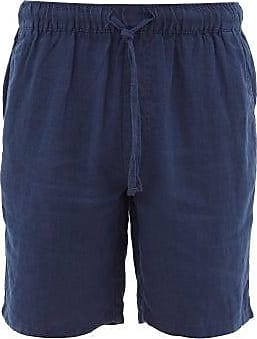 Onia Noah Slubbed-linen Shorts - Mens - Navy