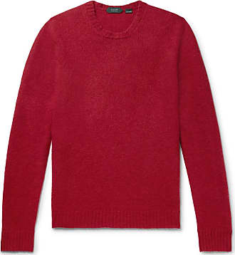 Incotex Slim-fit Virgin Wool Sweater - Brick
