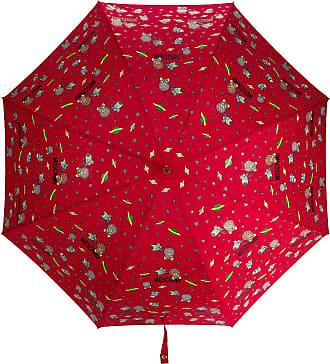 Moschino space-themed logo print umbrella - Red