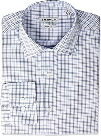 Club Room Regular Fit Mens Striped Dress Shirt 15.5 32//33 Blue Hairline