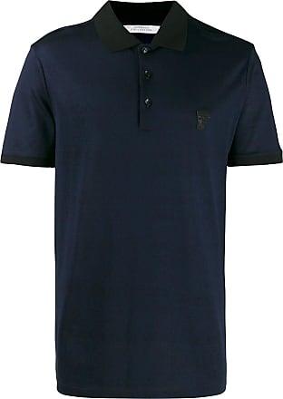 Versace Collection Camisa polo com logo - Azul