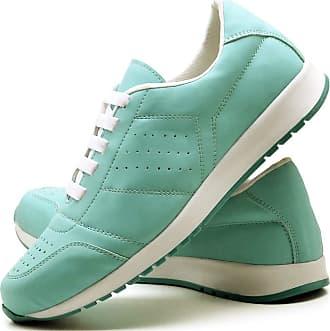 Juilli Tênis Sapato Casual Com Cadarço Feminino JUILLI 1102DB Tamanho:40;cor:Verde;gênero:Feminino