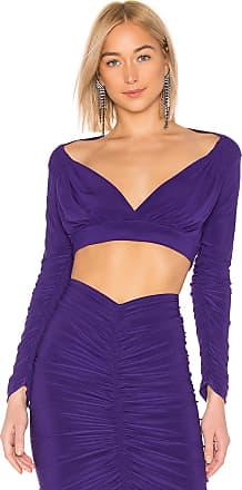 Norma Kamali X REVOLVE Long Sleeve Cropped Tara Top in Purple 9d09641f5