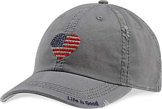 Life is good Heart Flag Sunwashed Chill Cap OS Slate Gray